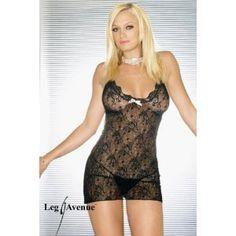 Leg Avenue Women's Boudoir Rose Lace Mini Dress, Black, One Size (Apparel)  http://www.amazon.com/dp/B000UPVCPW/?tag=oretoretanku-20  B000UPVCPW