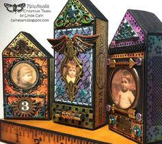 Mixed-media art, art journaling and scrapbooking by polish artist and teacher Anna Dabrowska aka Finnabair. Altered Boxes, Altered Art, Assemblage Art, House In The Woods, Mixed Media Art, Mix Media, Box Art, Medium Art, Art Techniques