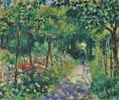 """dappledwithshadow: """" Women in the Garden, Pierre-Auguste Renoir 1873 """""""