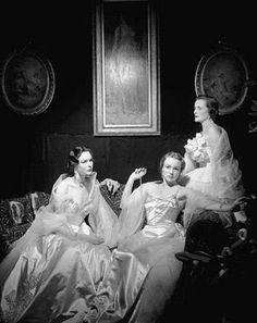 The Wyndham Sisters 1950  Mrs John Wyndham, Lady Cranborne, Lady Roderic Pratt