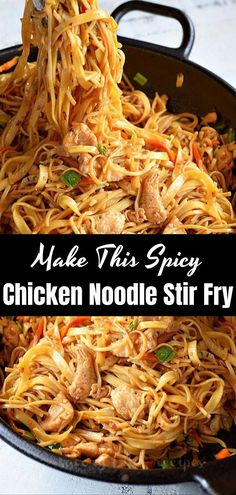 Make This Spicy Chicken Noodle Stir Fry Doing this pasta eventually while moving the chicken will become your routine. In less than 30 minutesA delicious Easy Vegan Ramen Noodle Soup that is. Pasta Dishes, Food Dishes, Chicken Stir Fry With Noodles, Asian Cooking, Asian Recipes, Chicken Recipes, Routine, Dinner Recipes, Cooking Recipes