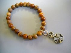 BRECCIATED JASPER Inspirational Beaded Stretch by Beads4You2008,