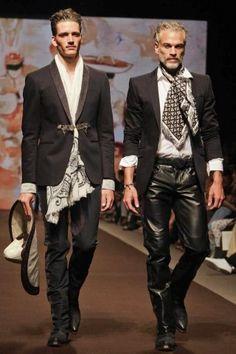 Men's leather trousers by Etro @ Milan Menswear S/S 2014