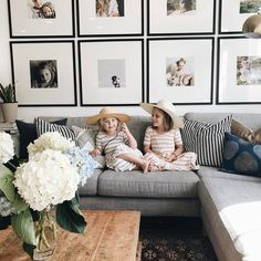 "292 Likes, 29 Comments - Whitney J. Davis (@whitneyclarke) on Instagram: ""I finally got around to updating the pictures above our couch so that Ivy is included, but Poppy…"""
