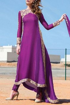 Long Sleeve High Low Purple Dress PURPLE: Maxi Dresses | ZAFUL