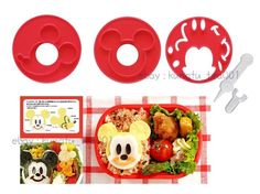 Mickey Mouse Bento Lunch Box Maker Tools Vegetable Food Egg Cookie Mold Cutter