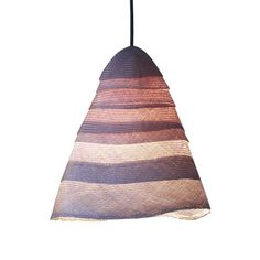 <p>A layered light, available in 2 natural tones, that develops intensity of colour when the light is illuminated.</p> <p><strong>Materials</strong>: Parasisal shade in white or warm linen.</p> <p>Supplied with a copper-coloured weave flex and porcelain rose.</p> <p><strong>Dimensions</strong>:<br />Small: 340d x 350h<br />Large: 340d x 500h</p> <p><a title=...