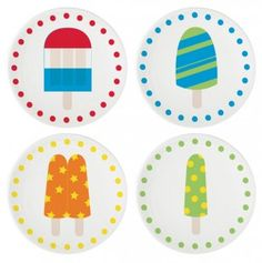 Summer Pops Dessert Plates Set of 4