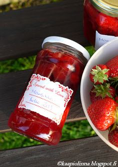 God save strawberry jam and all the different varieties Strawberry Jam, Salsa, Jar, Food, Strawberry Jelly, Meal, Salsa Music, Restaurant Salsa, Essen