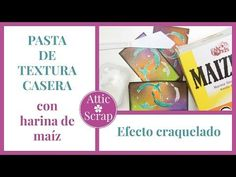 PASTA DE TEXTURA CASERA con HARINA DE MAÍZ (Efecto Craquelado) - YouTube