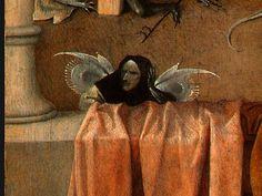 Death and the Miser (detail) - Hieronymus Bosch Artist: Hieronymus Bosch Start Date: Completion Style: Northern Renaissance Diego Rivera, Hieronymus Bosch Paintings, Garden Of Earthly Delights, Dutch Painters, Albrecht Durer, Sacred Art, Renaissance Art, Religious Art, Death