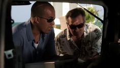 """Burn Notice 5x04 """"No Good Deed"""" - Sam Axe (Bruce Campbell) & Jesse Porter (Coby Bell)"""