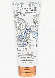 Forget Me Not Shower Gel by Library of Flowers #libraryofflowers #maripoza #boutique #osmanthus #ricepowder #whiteorchid #showergel #shower #gift #rgv