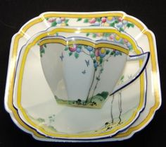 Shelley QUEEN ANNE BALLOON TREE Tea cup and saucer TRIO