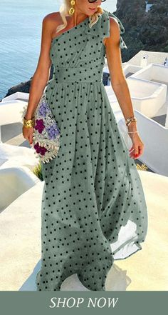 Womens Fashion Online, Latest Fashion For Women, Holiday Outfits Women, Boho Fashion Summer, Spring Fashion, Bohemian Mode, Women's Fashion Dresses, Maxi Dresses, Green Dress