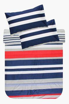 Printed Stripe Comforter Set - Shop New In - Bed & Bath - Shop