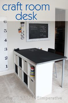 The Creative Imperative: Craft Room Desk with Shelves
