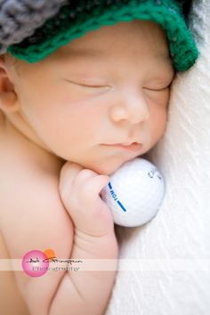 super cute golf newborn shot!