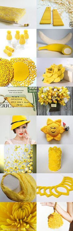 yellow gift by styledonna on Etsy--Pinned with TreasuryPin.com