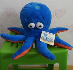 Free Shipping 30cm=11.8'' Original 3D eyes Blue Octopus doll Stuffed animal soft plush toys for baby gift