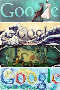 google doodles are a great example of designs that appeal to the crowd, but still have thought, creativity, and personal touch to them. Everyone still knows it's google.