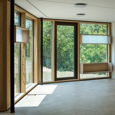 Image 19 of 40 from gallery of School for Curative Pedagogy HPT Biel / bauzeit architekten. Photograph by Yves André Contemporary Architecture, Swiss Architecture, Bed Furniture, Extensions, Windows, Gallery, School, Refurbishment, Photograph