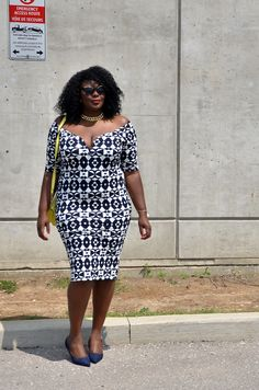 My Curves & Curls™ | A Canadian Plus Size Fashion blog: ASSA CISSE X COOL GAL BLUE