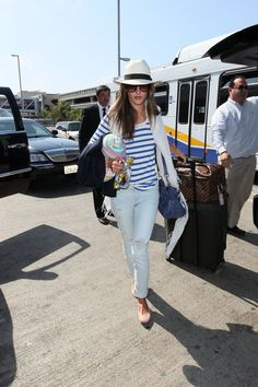 Alessandra Ambrosio Is Summer Chic At LAX Airport! | Posh24.com
