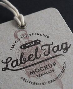 Free PSD mockup of a clothing label tag created by Graphic Goods. This photorealistic cardboard paper tag mockup template will be perfect for your branding presentation. Brand Purpose, Label Tag, Cardboard Paper, Retro Logos, Paper Tags, Clothing Labels, Vintage Labels, Mockup, Business Cards