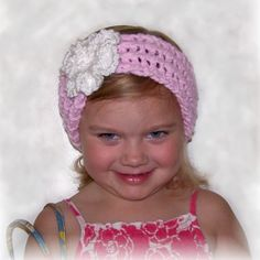 Child Headband  Pink  3T to 8T  Ski band  by SandyCoastalDesignsB, $12.00