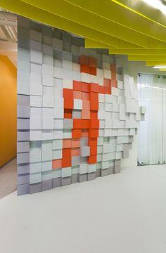 yandex saint petersburg office ii by za bor design design ideas - Pixelated Interior Design