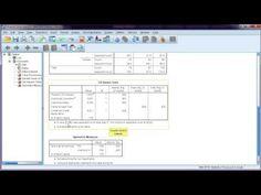 Chi-square test in SPSS + interpretation - YouTube