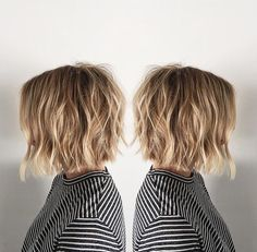"""It can not be repeated enough, bob is one of the most versatile looks ever. We wear with style the French """"bob"""", a classic that gives your appearance a little je-ne-sais-quoi. Here is """"bob"""" Despite its unpretentious… Continue Reading → Medium Choppy Hair, Medium Hair Styles, Short Hair Styles, Thick Blonde Highlights, Line Bob Haircut, Bobs For Thin Hair, Choppy Bob Hairstyles, Pixie Haircuts, Layered Haircuts"""