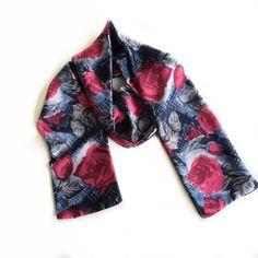 Blue Floral scarf, Coworker gift, Long Skinny Scarf, Birthday Gift for Coworker, Office Neck Scarves for her or him, Head Bandana #GiftForGirls10 #PaisleyScarf #BowNeckScarves #GiftForCoworker #GiftForTeachers #ThankYouGift #DamaskPrintScarves #GiftForMother #BlueFloralFabric #Under1015