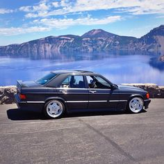 to that one time I drove my car to Crater Lake. Mercedes Benz 190e, Mercedes Benz Cars, Auto Peugeot, Daimler Benz, Classic Mercedes, Top Cars, Classic Cars, Car Game, Car Pics