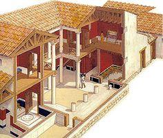 housecut Ancient Greek Architecture, Roman Architecture, Ancient Buildings, Residential Architecture, Hellenistic Period, Greek House, Greek History, Ancient History, Art Antique