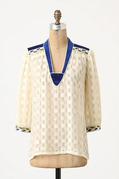 yes i'll buy you.  blue white blouse