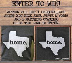 Click the photo to enter! Any size shirt from Newborn to Adult XXL(unisex), Any State and saying.  Ends August 31, 2013