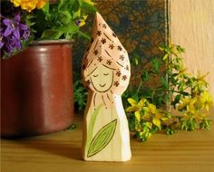PLANTAIN FAIRY  - waldorf wooden toy for summer nature table on Etsy, $10.59 AUD