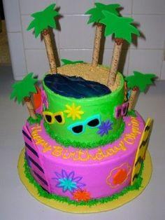 luau cake By maryindublin on CakeCentral.com
