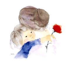Chihiro Iwasaki Mother and Child Mother Daughter Art, Mother Art, Mother And Child, Mom Son, Love Mom, Mothers Love, Art Floral, Art Mignon, Happy Mother S Day