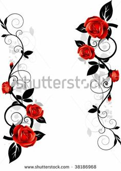 Idea for lower hip Leg Tattoos, Small Tattoos, Body Art Tattoos, Girl Tattoos, Rose Vine Tattoos, Flower Tattoos, Rose Vines, Tatoo, Vine Design