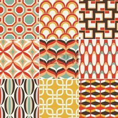 Retro seamless pattern vector 1264916 - by paul_june on VectorStock® Geometric Patterns, Graphic Patterns, Textile Patterns, Abstract Pattern, Pattern Art, Geometric Shapes, Print Patterns, Pattern Design, Motif Art Deco