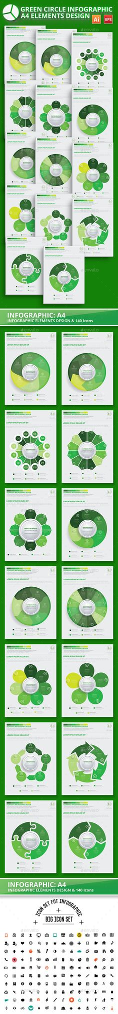 Green Circle Infographic Design Template Vector EPS, AI. Download here: http://graphicriver.net/item/green-circle-infographic-design/15898396?ref=ksioks