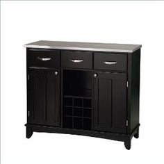 Home Styles Furniture Large Steel Top Buffet in Black $380.00