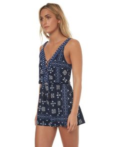 INDIGO WOMENS CLOTHING TIGERLILY PLAYSUITS + OVERALLS - T372405IND