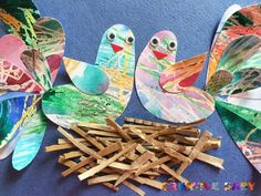 Spring Crafts For Kids, Art For Kids, Bird Crafts, Diy And Crafts, School Art Projects, Art Lesson Plans, Teaching Art, Op Art, Craft Activities