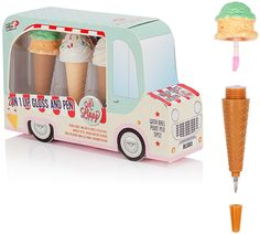 Npw-usa Ice Cream Van Lip Gloss and Pen Gift Set for sale online Ice Cream Van, Ice Cream Party, Cool Packaging, Packaging Design, Cosmetic Packaging, Packaging Ideas, Kosmetik Shop, Pochette Surprise, Mini Boutique