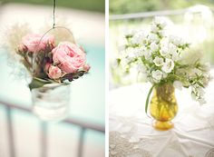 Cubos con flores