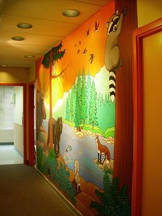 Funny Murals to Design the Kids Rooms with Village View | KIDS ...